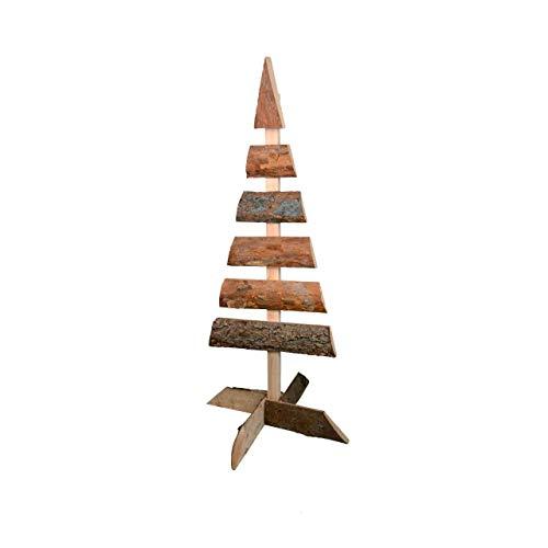 RM E-Commerce Weihnachtsbaum Tannenbaum Holzbaum Dekobaum Holz Natur Dekoration 1 m