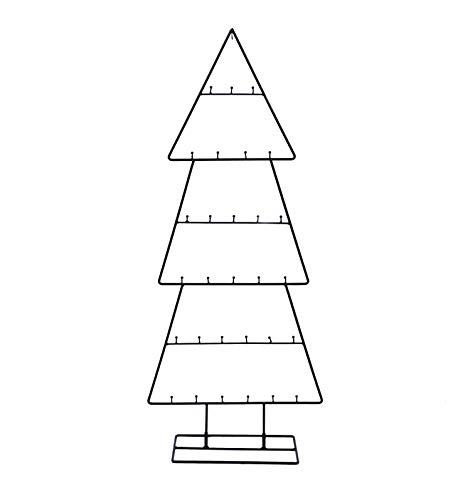 Spetebo Design Metall Tannenbaum für Zierschmuck - 100 cm - Deko Weihnachtsbaum Tanne schwarz