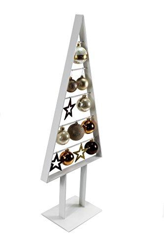 Manschin Laserdesign Tannenbaum Metall Weihnachtsbaum Edel Weiß Hochglanz 98cm