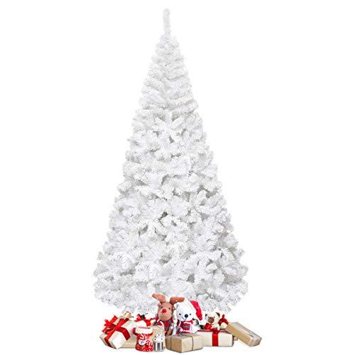 COSTWAY 150/180/210/240cm Künstlicher Weihnachtsbaum, Tannenbaum mit Metallständer, Christbaum PVC...