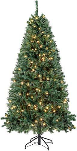 SALCAR Weihnachtsbaum künstlich 180cm mit Beleuchtung, 798 Astspitzen, inkl. 250 LED...