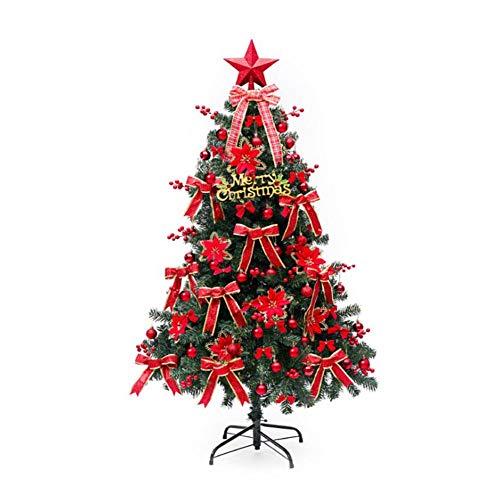 perfecti 1.2M Künstlicher Weihnachtsbaum Komplett Geschmückt Dekoriert Roter Deko...