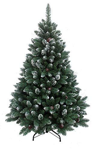 RS Trade 15013 Weihnachtsbaum künstlich 210 cm mit Schnee und Zapfen (Ø ca. 132 cm) ca....