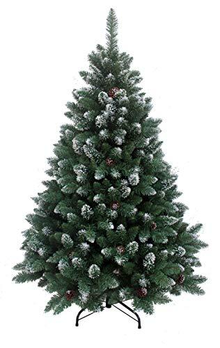 RS Trade HXT 15013 künstlicher Weihnachtsbaum 240 cm mit Schnee und Zapfen (Ø ca. 150 cm) ca. 1815...