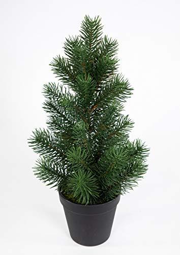 Mini Tannenbaum im Topf 38cm DP künstlicher Weihnachtsbaum Kunststoff 100% PE Tanne...