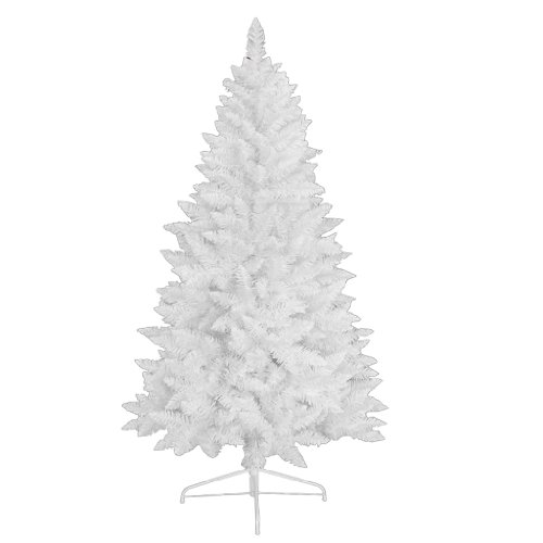 RS Trade 1015 Weihnachtsbaum künstlich Weiß 180 cm (Ø ca. 87 cm) mit 602 Spitzen,...