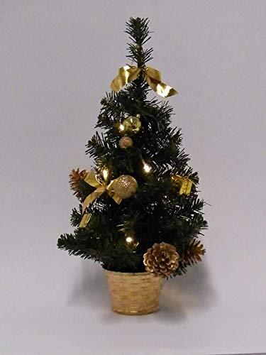 Best Season Weihnachtsbaum,10 warmweisse LED, Dekoration, Plastik, Grün, 18 x 18 x 45 cm