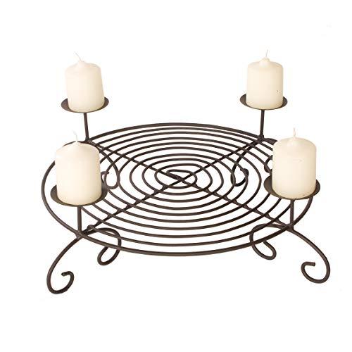 Adventskranz Metall Durchmesser 50 cm mit Kerzenteller zum Advent | schön zum Dekorieren...