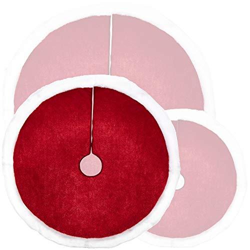 com-four® Weihnachtsbaumdecke zum Schutz vor Tannennadeln - runde Christbaumdecke für den...