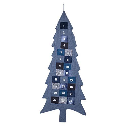XXL Adventskalender zum Befüllen Weihnachtsbaum aus Stoff zum Aufhängen Weihnachten,...
