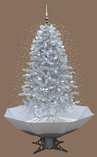 foolonli Weihnachtsbaum schneiend künstlich Silber 200 cm mit Musik inkl. Deko