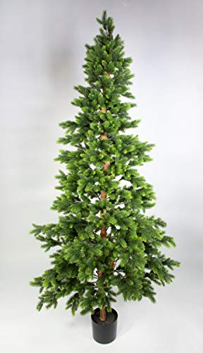 Seidenblumen Roß Wald-Tannenbaum 210cm DA künstlicher Weihnachtsbaum Tannenbaum...