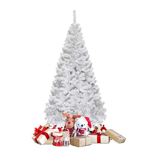 COSTWAY Weihnachtsbaum künstlicher Tannenbaum Christbaum Kunstbaum Dekobaum mit Metallständer...