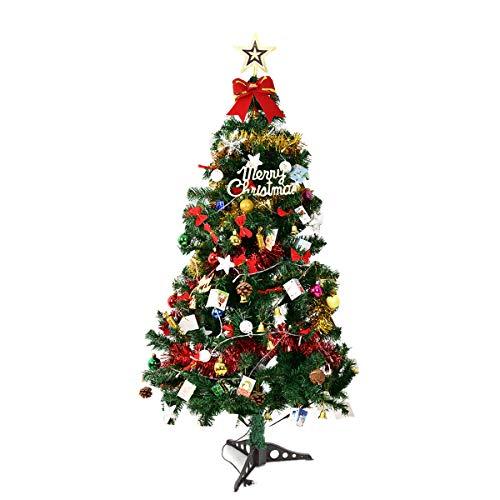 NICCOO beleuchteter Weihnachtsbaum künstlich 150cm, Dekoriert Christbaum Tannenbaum mit...