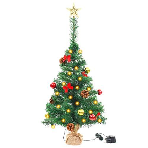 vidaXL Künstlicher Weihnachtsbaum Geschmückt LED 64cm Christbaum Tannenbaum