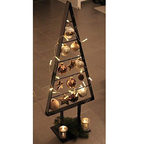 edelstahlheini.de Tannenbaum Metall künstlich Weihnachtsbaum Edel Schwarzbraun Hochglanz 98cm