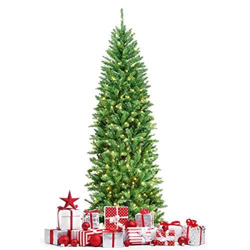 GOPLUS Künstlicher Weihnachtsbaum, Tannenbaum mit LED-Beleuchtung, Christbaum mit...