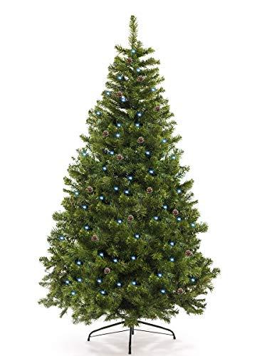 awshop24 Künstlicher Weihnachtsbaum Tannenbaum Christbaum, mit LED und Fernbedienung, in...