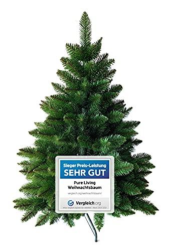Weihnachtsbaum künstlich 120 cm – Dichte Zweige, einfacher Aufbau, Made in EU -...