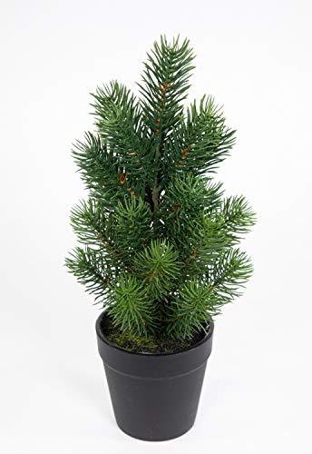 Mini Tannenbaum im Topf 32cm DP künstlicher Weihnachtsbaum Kunststoff 100% PE Tanne...