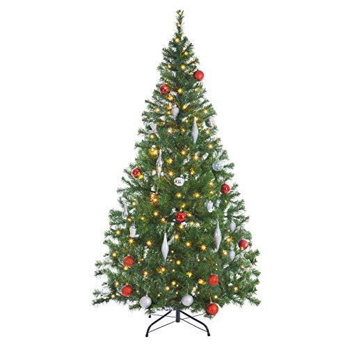 Casaria Weihnachtsbaum 150 bis 180 cm Ständer LED Lichterkette künstlicher Tannenbaum...