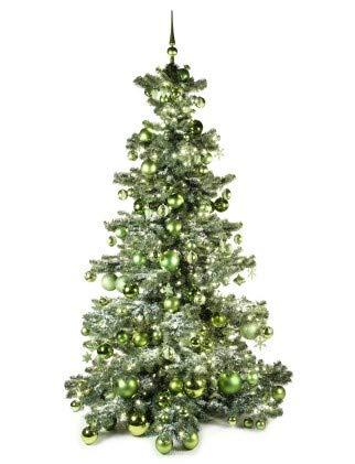 Xmasdeco Künstlicher Weihnachtsbaum 180cm Erfrischend grün mit Beleuchtung | 300 LED