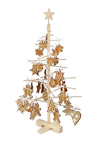 xmas3 S-75 cm Weihnachtsbaum aus Holz, Natural, 48 x 48 x 75 cm