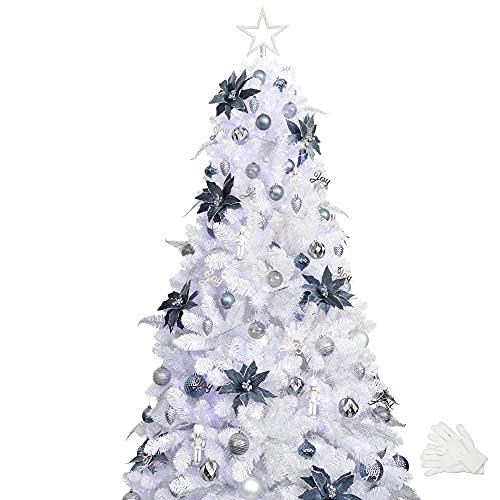 weißer Tannenbaum geschmückt