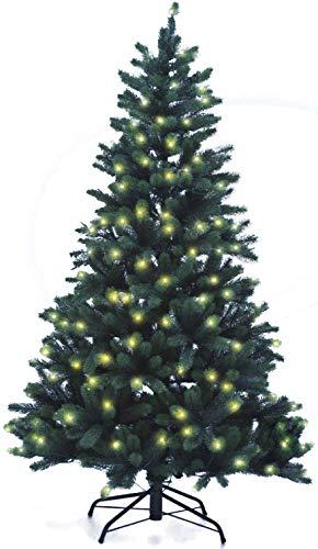 Xenotec PE- Weihnachtsbaum künstlich ca.180cm hoch mit 222 LED- warmweißes Licht- Das...
