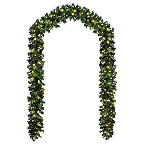 Baunsal GmbH & Co.KG Weihnachtsgirlande Tannengirlande Girlande grün 10 m und...