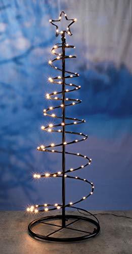 Metall Weihnachtsbaum mit 100 LED in warmweiß - Lichterbaum außen und innen als...