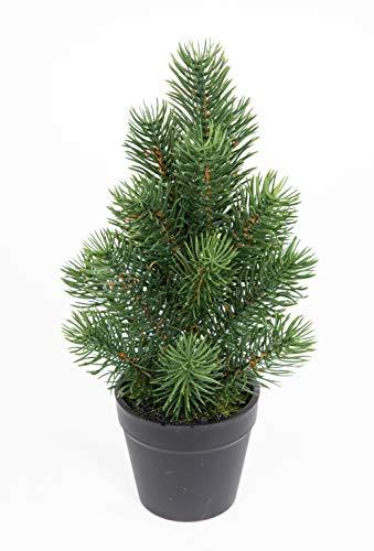 Mini Tannenbaum im Topf 26cm DP künstlicher Weihnachtsbaum Kunststoff 100% PE Tanne...