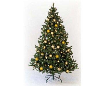 kunstpflanzen-discount.com Künstliche Weihnachtsbäume mit Christbaumkugeln Gold farbig, Höhe...