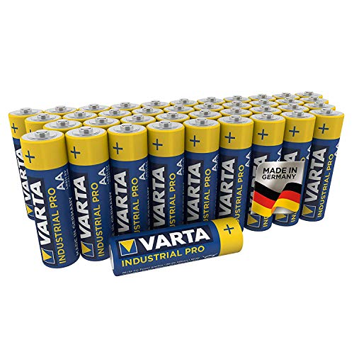 VARTA Industrial Batterie AA Mignon Alkaline Batterien LR6-40er Pack, Made in Germany,...