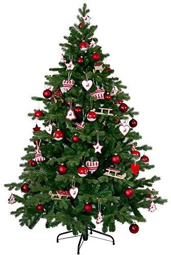 Dekorierter Weihnachtsbaum 180 cm mit 112-tlg. Christbaumschmuck