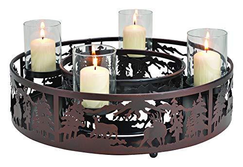 Strike Teelichthalter-Set aus Metall, Adventskranz, Weihnachtsdekoration, Tischdekoration...