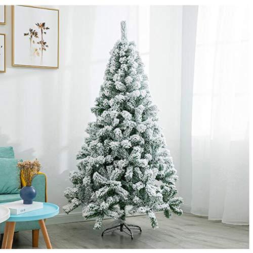 JRMU 5ft Schnee-Effekt Künstlicher Weihnachtsbaum, Premium PVC Spritzguss Scharnier...