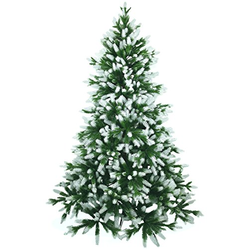 Künstlicher Weihnachtsbaum 180cm in Premium Spritzguss Qualität, angeschneite...