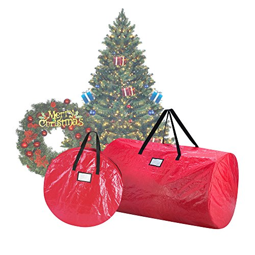 Elf Stor 1016 Weihnachtskranz-Aufbewahrungsbeutel, 2,7 m, 2,7 m, Rot