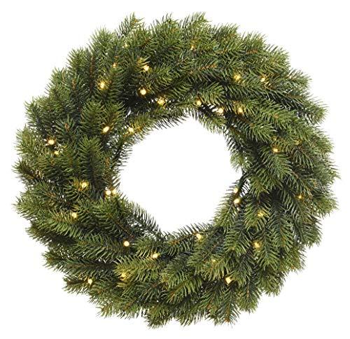 Kaemingk Weihnachtskranz Outdoor 49 LED warmweiß Batterie 40 cm grün