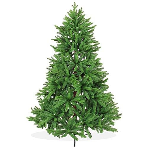 DekoLand Pe Spritzguss Weihnachtsbaum künstlich 180 cm (Ø 130 cm) 966 Zweige (1452 Spitzen),...