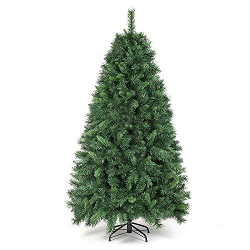 SALCAR Weihnachtsbaum künstlich 180cm mit 580 Spitzen, Tannenbaum künstlich...