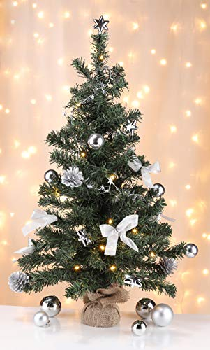 Bambelaa! Künstlicher Weihnachtsbaum Christbaum 75cm komplett geschmückt dekoriert mit Kugeln...