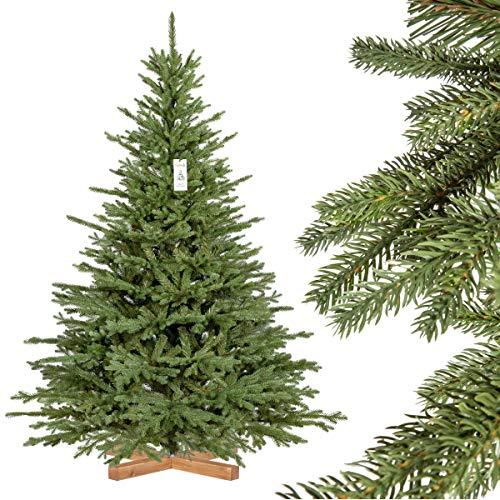 FAIRYTREES künstlicher Weihnachtsbaum BAYERISCHE Tanne Premium, Material Mix aus...