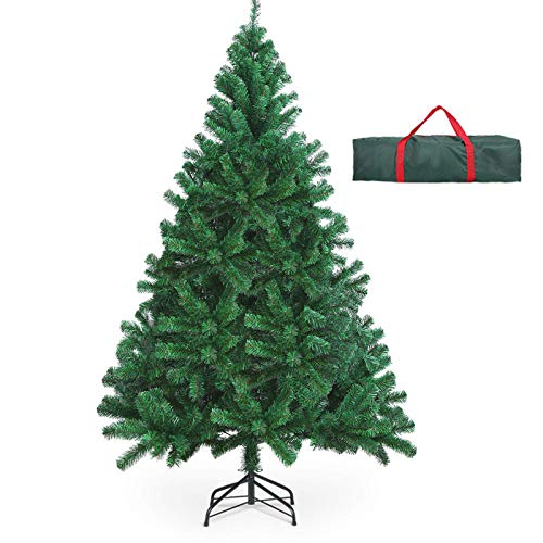 OUSFOT Weihnachtsbaum Künstlich 182cm (Ø ca. 110 cm) 800 Äste schwer entflammbarer...