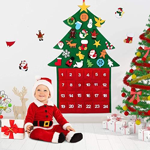 Filz-Weihnachtsbaum Adventskalender