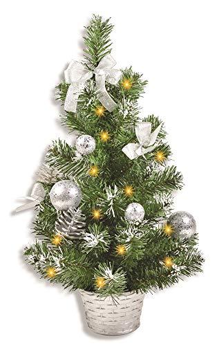 Riffelmacher Geschmückter Weihnachtsbaum beleuchtet 50cm 20258 - Silber - Weihnachtsbaum mit...