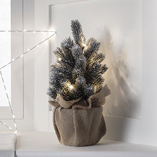 Montreal 8er LED Mini Tannenbaum warmweiß Timer batteriebetrieben Lights4fun