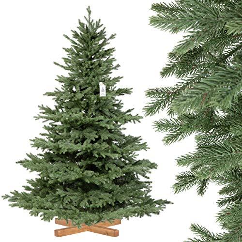 FairyTrees Weihnachtsbaum künstlich Kiefer, Natur-Weiss beschneit, Material PVC, echte...