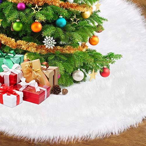 AmzKoi Weihnachtsbaumdecke,Tannenbaum Decke Weihnachtsbaum Teppich,Weihnachtsbaum Rock...